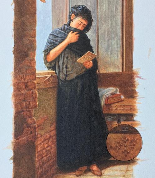 miniature painting of Almeida Junior's Saudade6