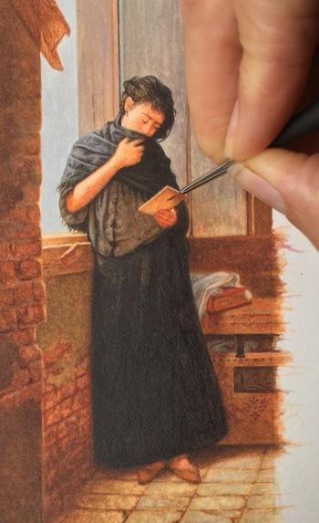miniature painting of Almeida Junior's Saudade7