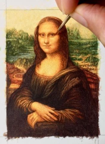 Da Vinci's Mona Lisa in miniature