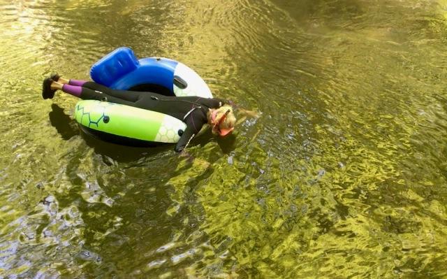 Rachelle Siegrist snorkeling