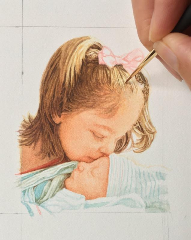 miniature portrait commission