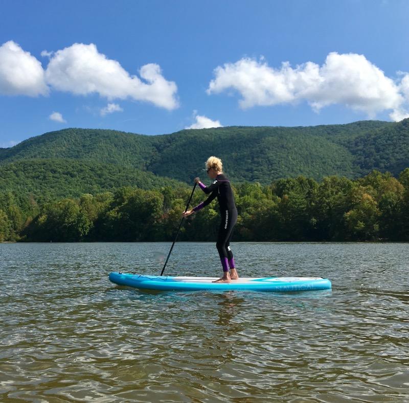 rachelle siegrist paddle boarding