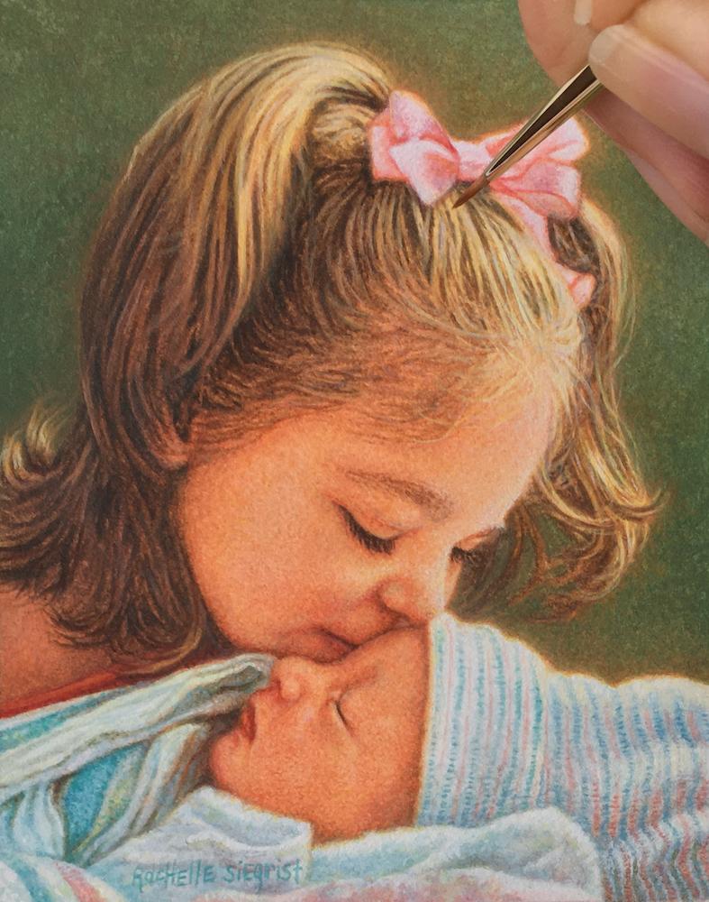 Childs portrait painting by Rachelle Siegrist