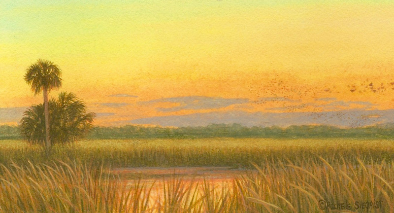 Florida Sunset painting by Rachelle Siegrist