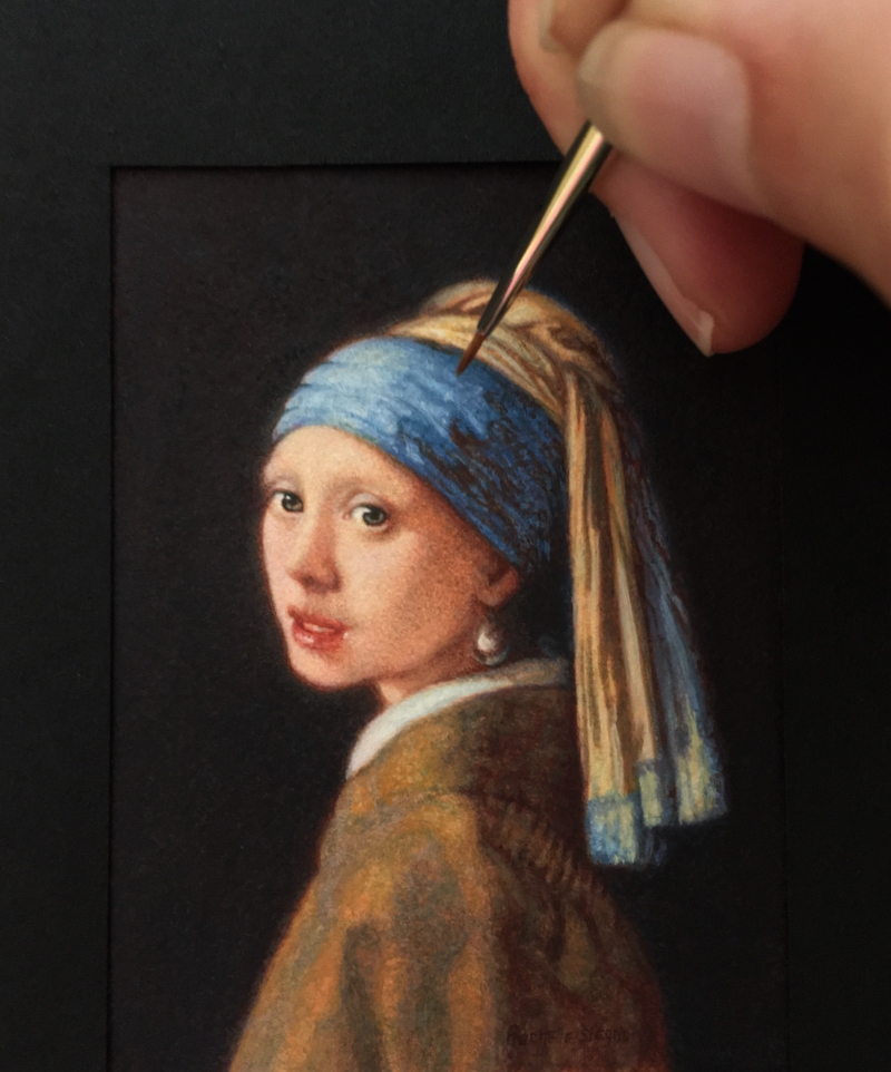 Vermeer's Girl With a Pearl Earring by Rachelle Siegrist
