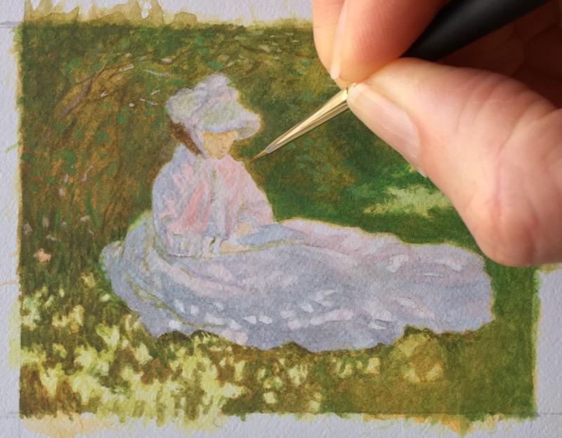 claude monet's springtime in miniature