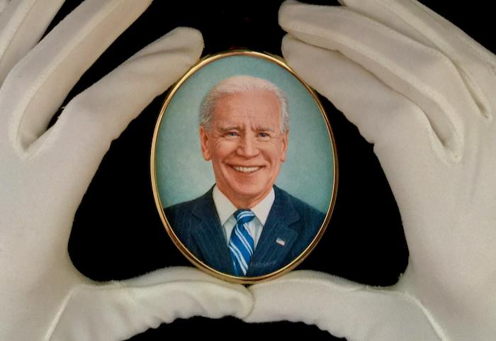 Portrait miniature president joe biden by Rachelle siegrist